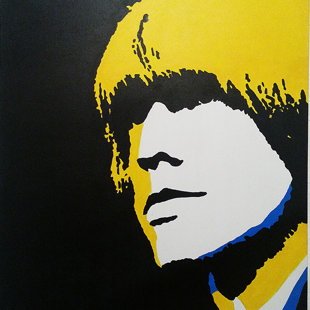 B.J. acrylique sur toile  46x55 cm / 2011