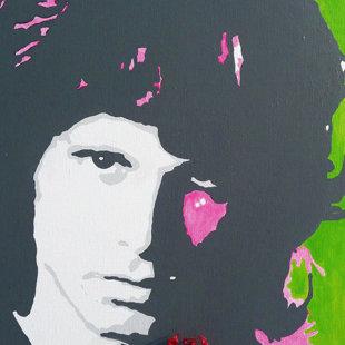 J.M. acrylique sur toile  46x55 cm / 2011