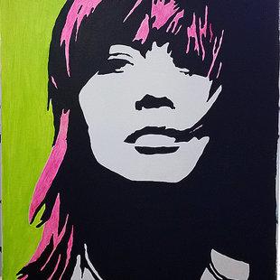 F.H. acrylique sur toile  46x60 cm / 2015