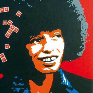 A.D. acrylique et timbres sur toile  46x55 cm / 2011