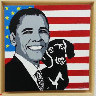 acrylique sur toile 40X40, cadre américain 45x45 cm, 2014