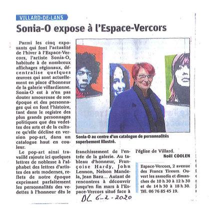 Dauphiné Libéré, Galerie Espace Vercors, Villard de Lans 6 02 2020 2015