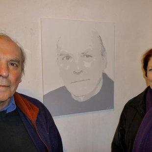 Avec le peintre Henri Prosi (1936/2010) devant son prtrait